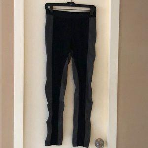 Black and gray leggings